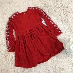Old Navy Red Long Sleeve Dress Size 5T 190